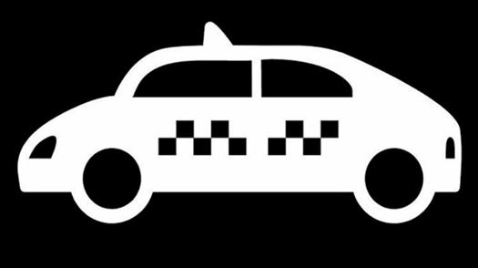 17.5cm 8cm Taxi Cab Transportation Vehicle Fashion Stickers Decals Vinyl Black Silver S3-6834-B