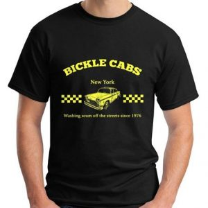 Bickle Cabs T Shirt Inspired by Taxi Driver Cult 70's Movie T-Shirt Size s-2XL