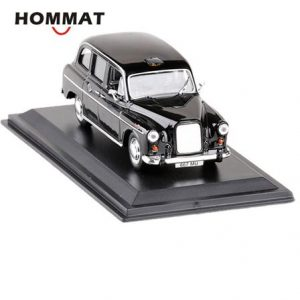 HOMMAT Simulation 1:43 Vintage Austin FX4 1958 London Taxi Cab Alloy Diecast Toy Vehicle Car Model Die Cast Metal Collection