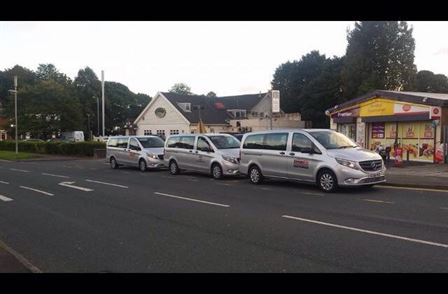 Private hire minibuses full track £400 bamford cars